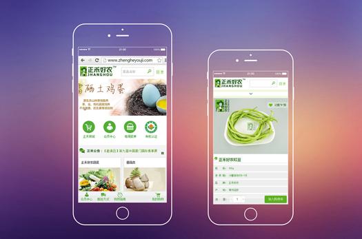 正禾有机手机商城网站建设设计